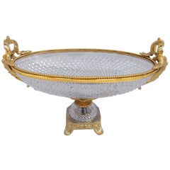 Cut Crystal Oval Cup, Sèvres Manufacture, circa 1950