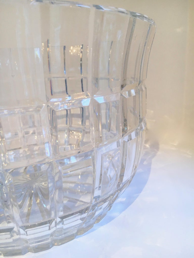 20th Century Cut Crystal Serving Bowl For Sale