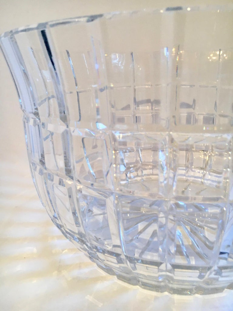 Cut Crystal Serving Bowl For Sale 1