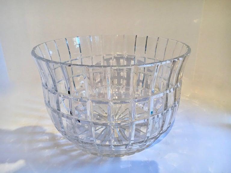 Cut Crystal Serving Bowl For Sale 2