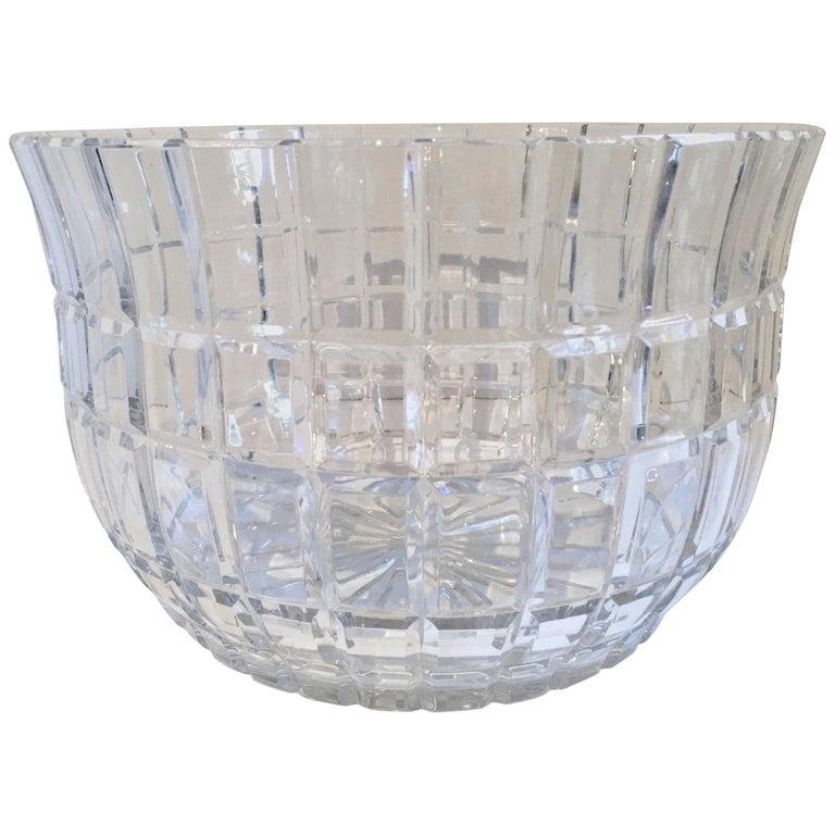 Cut Crystal Serving Bowl For Sale
