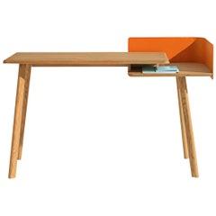Cut Desk, Ash Legs and Multi-Layer Birch Wood Shelf by Studio Saudubray Soler