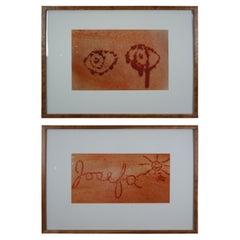 "Cut ""Eyes"" & ""Josefa"" by Josefa Mulaire Conceptual Art Photographs Burled Frame"