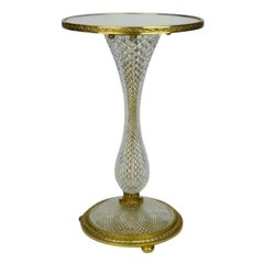 Cut Glass Occasional Table probably by Baccarat