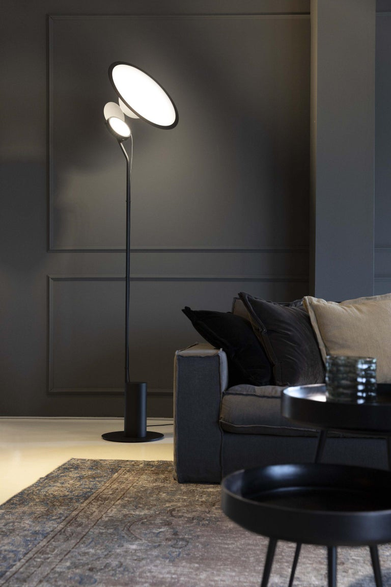 Italian Cut Modern Aluminum LED Floor Lamp by Timo Ripatti For Sale