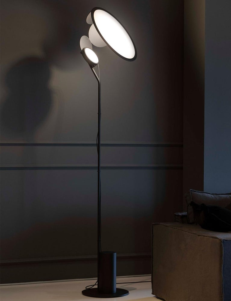Cut Modern Aluminum LED Floor Lamp by Timo Ripatti In New Condition For Sale In Danbury, CT