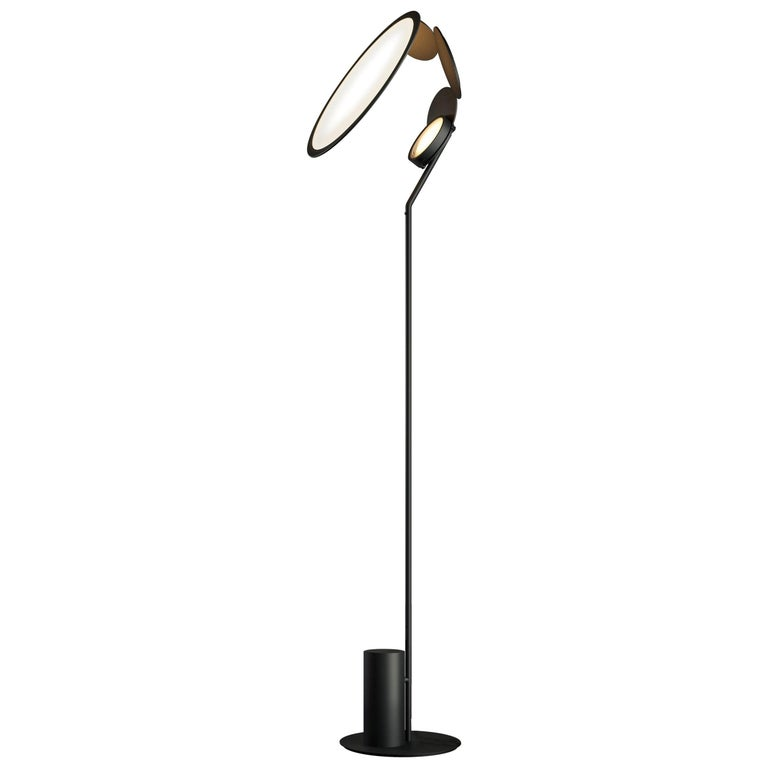Cut Modern Aluminum LED Floor Lamp by Timo Ripatti For Sale