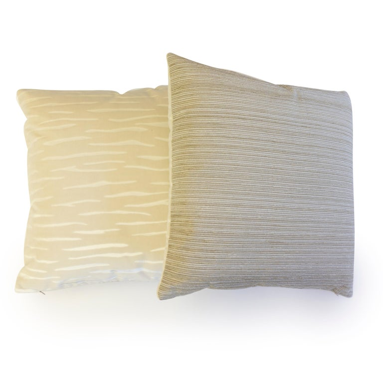 American Cut Velvet Throw Pillows For Sale