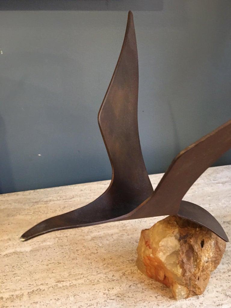Mid-Century Modern Cutis Jere Metal Seagull Sculpture