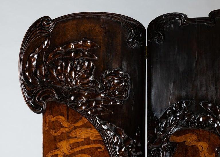 Italian Cutler & Girard, Three-panel screen, Italy, 1902 For Sale