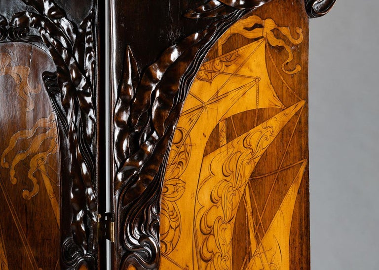 Cutler & Girard, Three-panel screen, Italy, 1902 In Good Condition For Sale In New York, NY