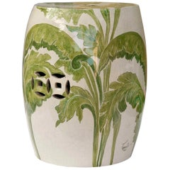 Cutout Garden Stool with Banana Leaves by Ceccarelli