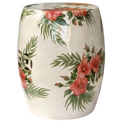 Cutout Garden Stool with Flowers by Ceccarelli