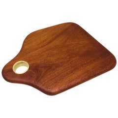 Cutting Gourmet Board Made of Tropical Hardwood in Brazilian Contemporary Design