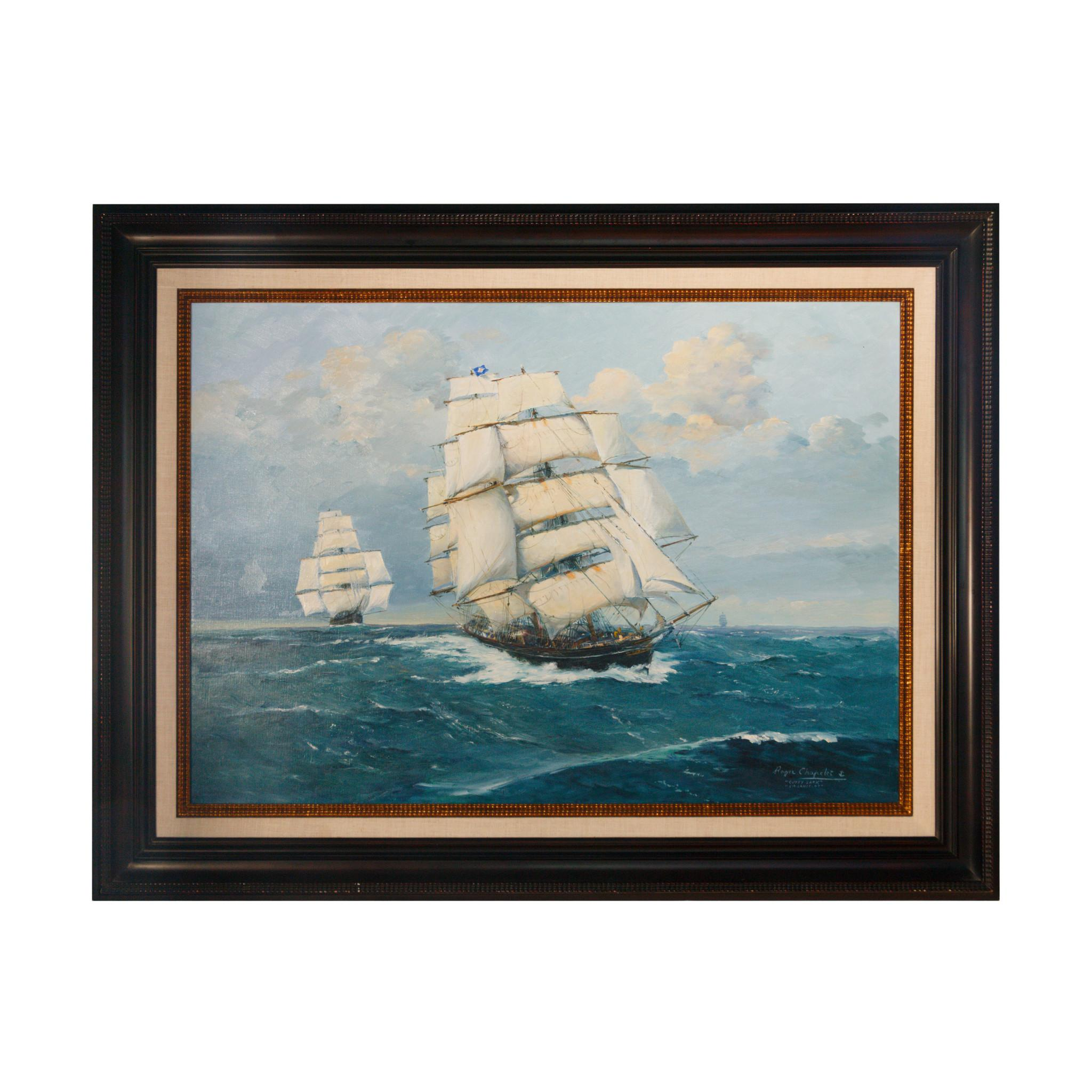 """""""Cutty Sark Sir Lancelot"""" Painting by Roger Chapelet"""