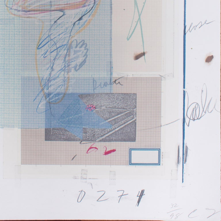 Natural History, Part 1, Mushrooms N. VII - Original Mixed Media by Cy Twombly For Sale 2