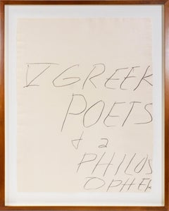 Cy Twombly, Five Greek Poets and a Philosopher, 1978