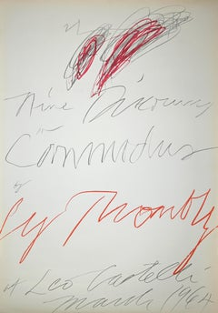 Nine Discourses on Commodus by Cy Twombly at Leo Castelli - Lithograph - 1964