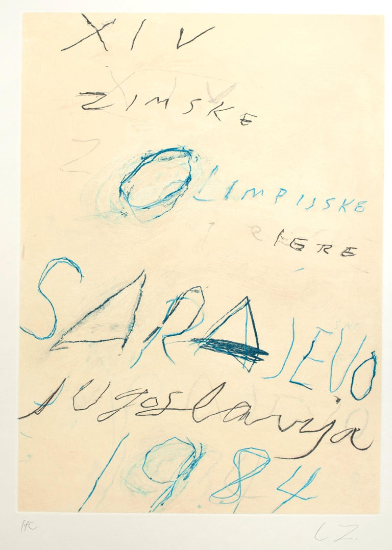 """Untitled, from """"Art and Sports"""" portfolio, 1984 by Cy Twombly For Sale 1"""