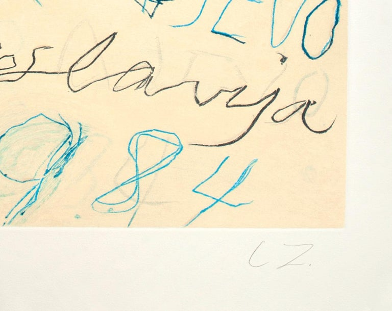 """Untitled, from """"Art and Sports"""" portfolio, 1984 by Cy Twombly For Sale 2"""