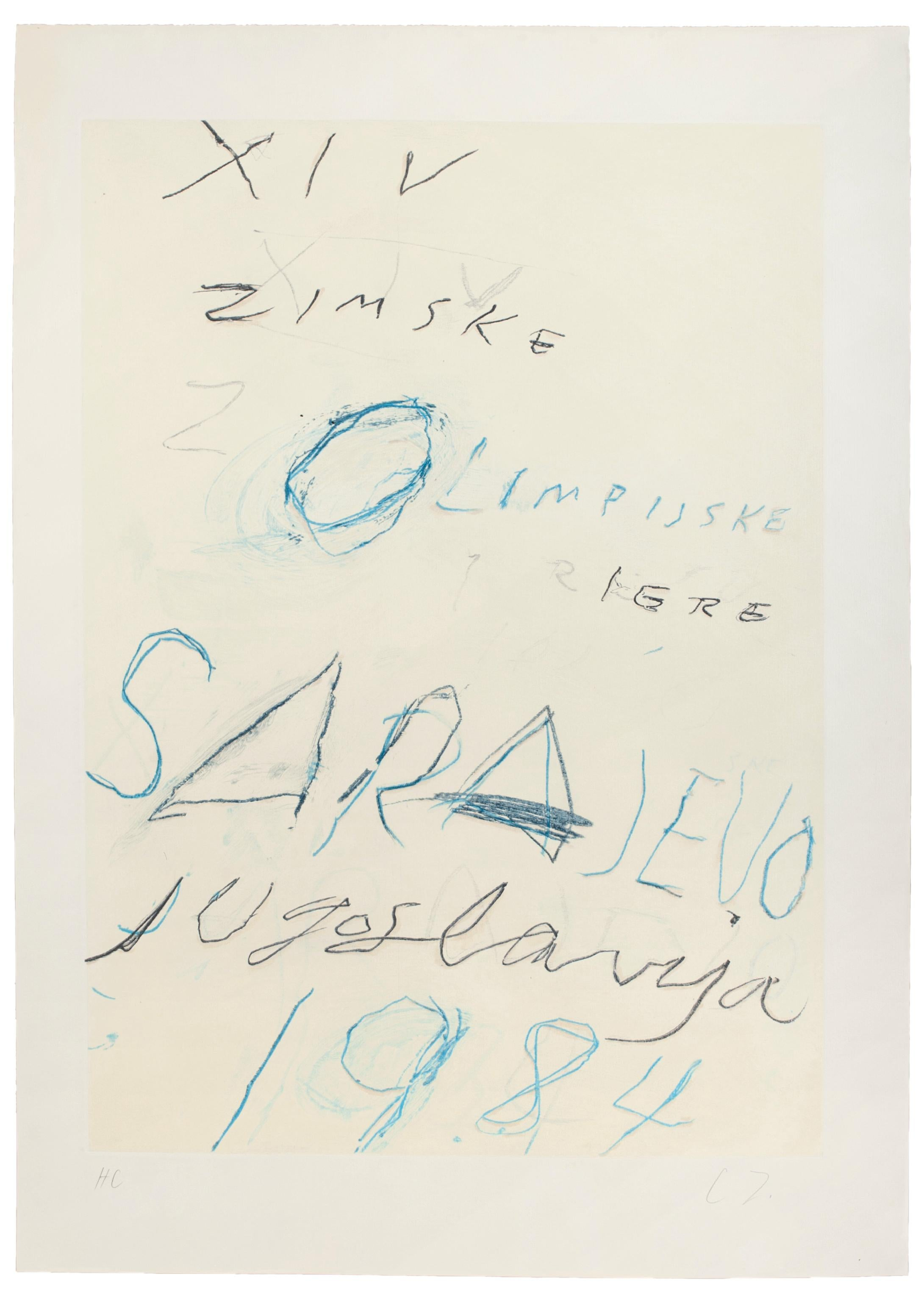 Untitled, Sarayevo - Lithograph and Aquatint Etching by Cy Twombly - 1984