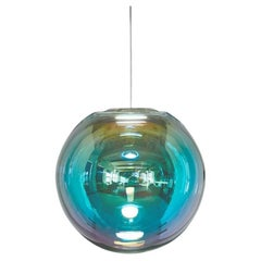 "Cyan-Magenta Iris Globe ""50"" by Sebastian Scherer"