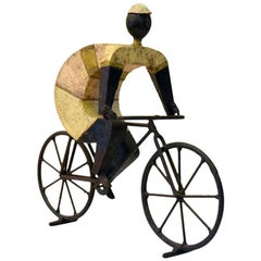 Cyclist Sculpture by Manuel Felguerez Made for the Mexico 1968 Olympic Games