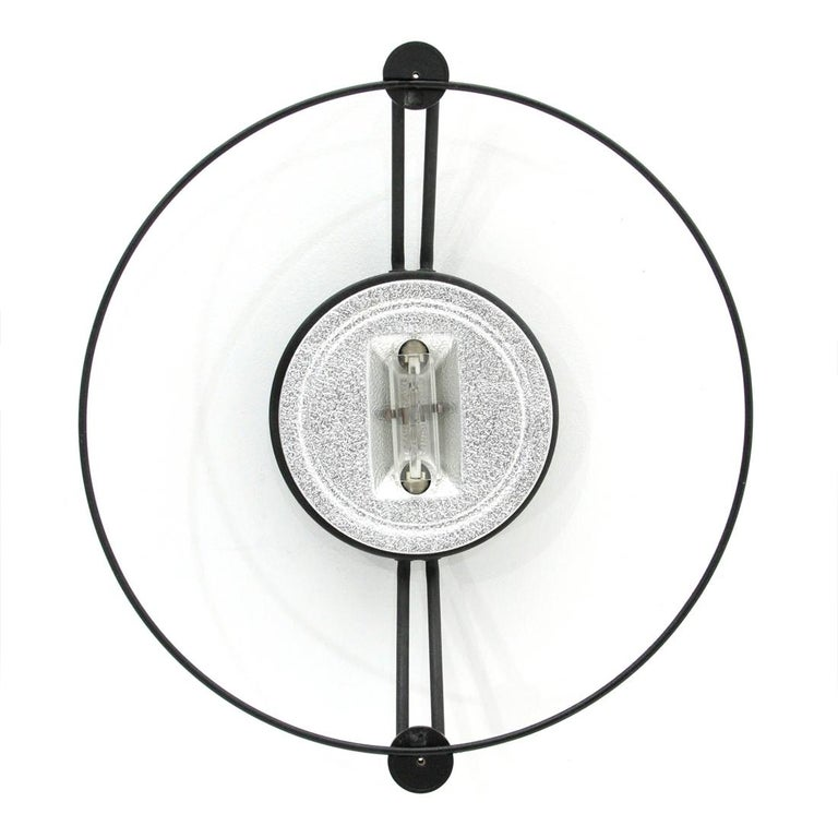 Italian Cyclos Applique or Ceiling Light by Michele De Lucchi for Artemide, 1980s For Sale