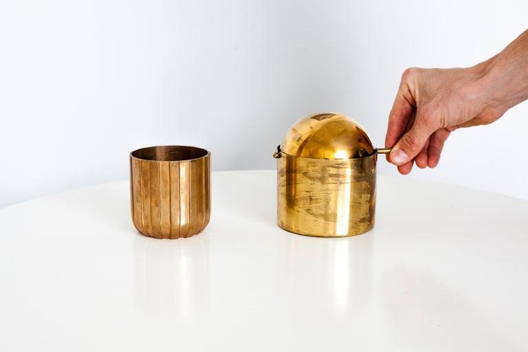 Mid-Century Modern Cylinda-Line Brass Ashtray by Arne Jacobsen X Stelton with Brass