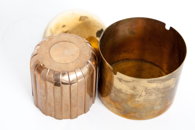 Cylinda-Line Brass Ashtray by Arne Jacobsen X Stelton with Brass