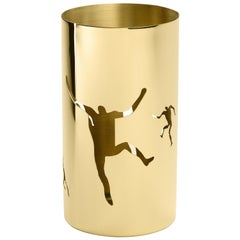 Cylinder Bowl in Polished Brass by Andrea Branzi