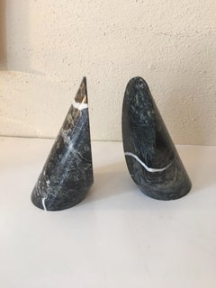 Cylinder Marble Bookends