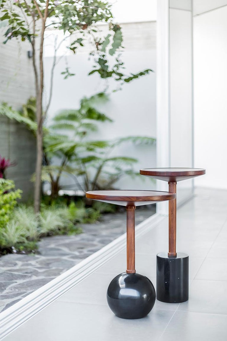 Cylinder Monterrey Side Table, Black Marble In New Condition For Sale In Zapopan, Jalisco