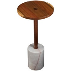 Cylinder Monterrey Side Table, White Marble