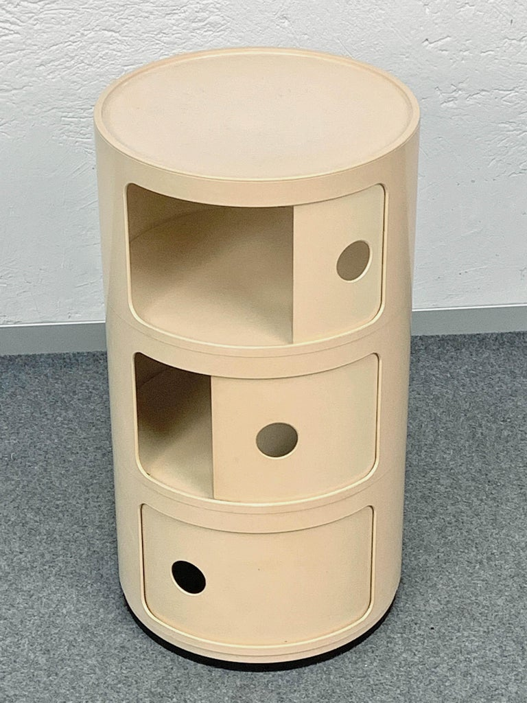 Mid-Century Modern Cylindrical Cabinet by Kartell, Italy 1969, Designed by Anna Castelli Ferrieri For Sale