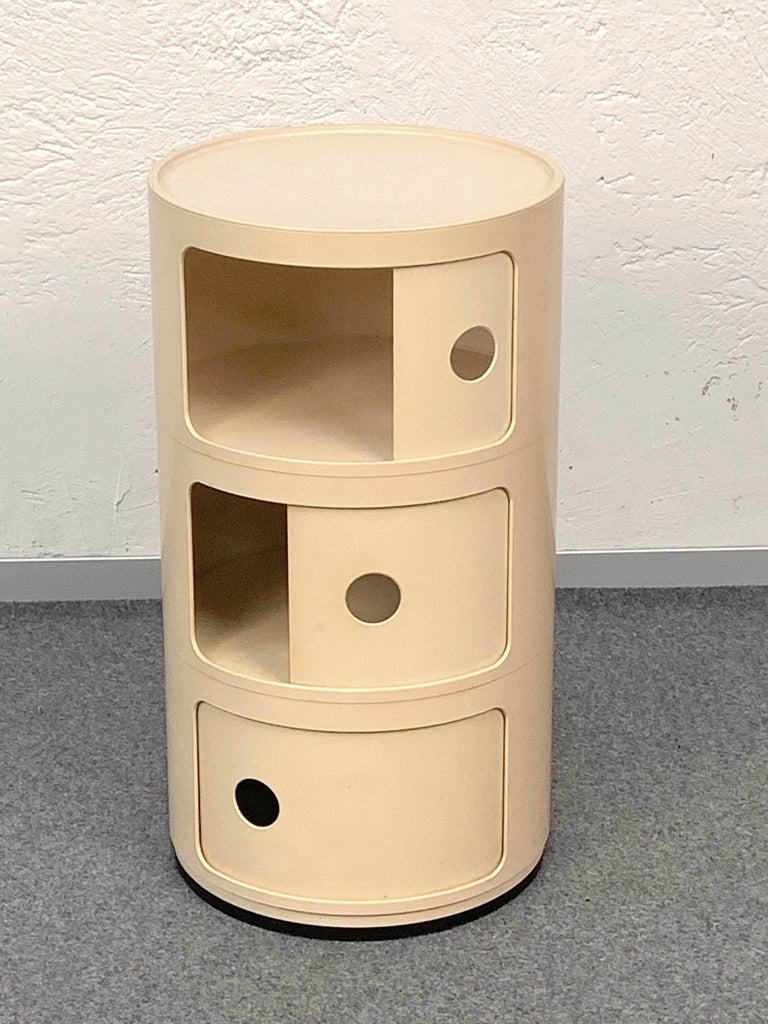Italian Cylindrical Cabinet by Kartell, Italy 1969, Designed by Anna Castelli Ferrieri For Sale