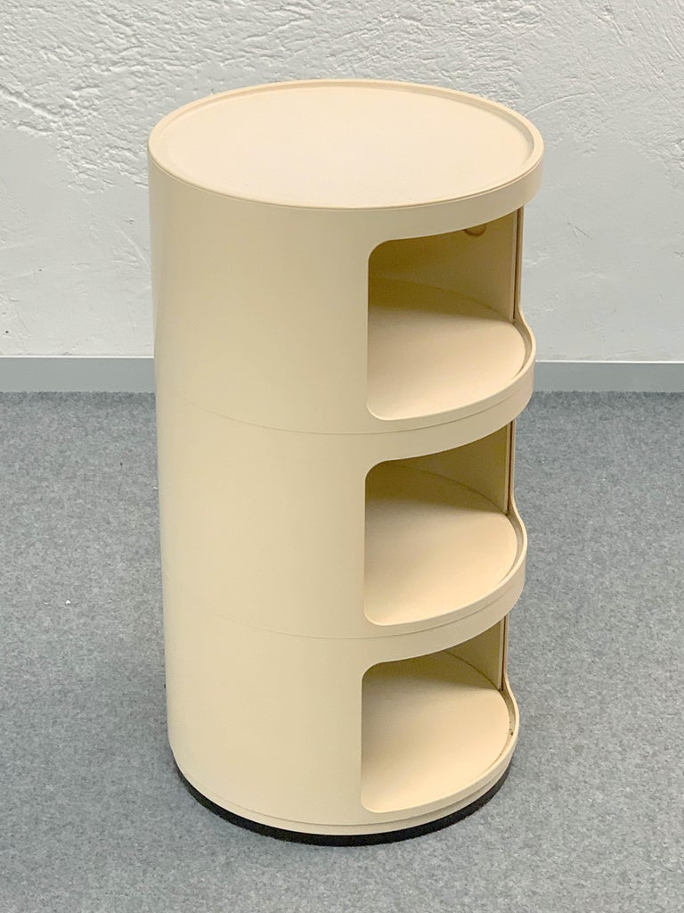 Mid-20th Century Cylindrical Cabinet by Kartell, Italy 1969, Designed by Anna Castelli Ferrieri For Sale