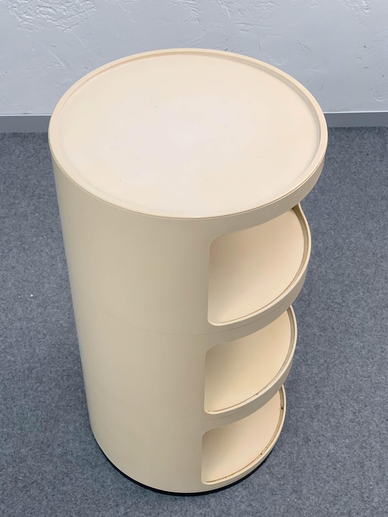 Plastic Cylindrical Cabinet by Kartell, Italy 1969, Designed by Anna Castelli Ferrieri For Sale