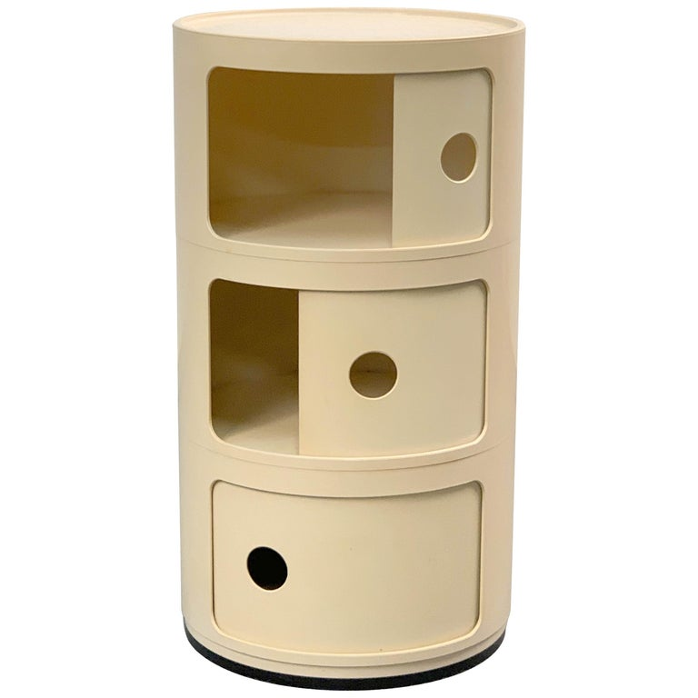 Cylindrical Cabinet by Kartell, Italy 1969, Designed by Anna Castelli Ferrieri For Sale