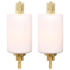 Cylindrical Murano Glass Sconces