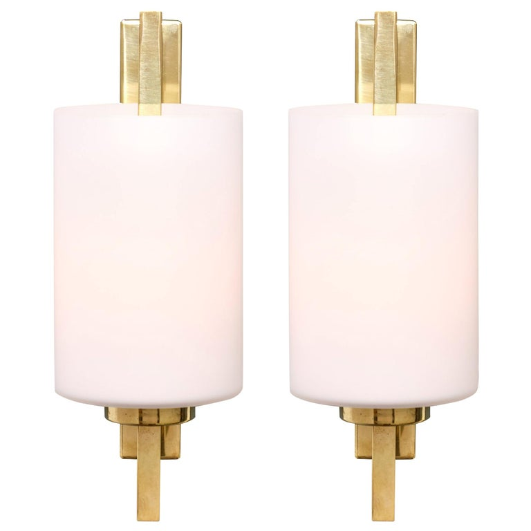 Cylindrical Murano Glass Sconces For Sale