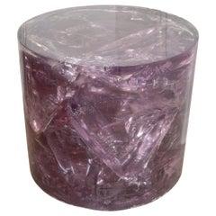 Cylindrical Resin Slab Table