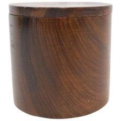 Cylindrical Wood Box, circa 1960, France