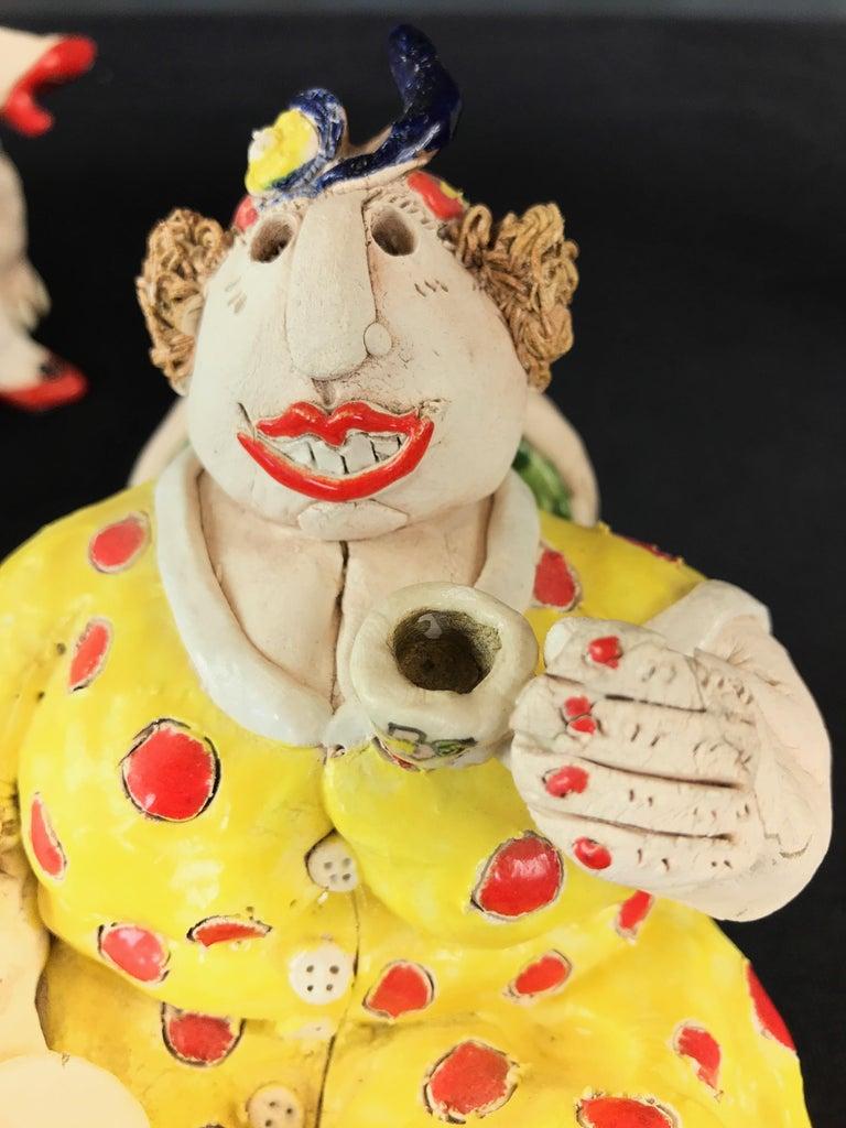 "Cynthia Hipkiss ""Four Ladies at Tea"" Five-Piece Ceramic Sculpture, 1987 For Sale 8"