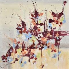 Fleur de Nostalgie (Flower of Longing), Abstract Oil Painting