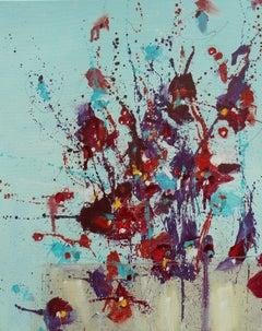 Fleur d'espoir (Flower of Hope), Painting, Oil on Canvas