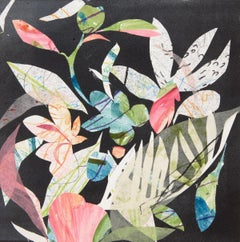 Ipanema, Botanical,  Floral, Mixed Media, Work on Paper, Flowers, colorful