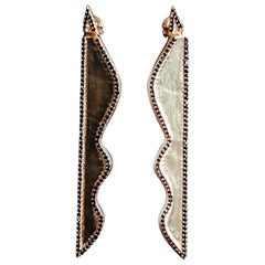 Cyntia Miglio Dangling Earrings with Onyx Pave