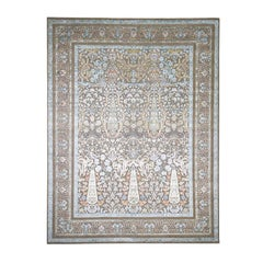 Cypress Tree Silk with Oxidized Wool Hand Knotted Oriental Rug
