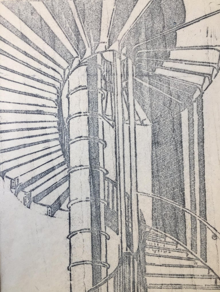 TUBE STAIRCASE - Print by Cyril Power